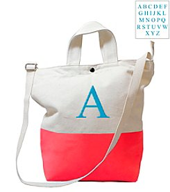 Cathy's Concepts Personalized Color Dipped Canvas Tote