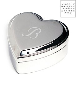 Cathy's Concepts Personalized Engraved Silver Heart Keepsakes Box