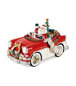 Fitz and Floyd Merry and Bright Santa in Car Tune