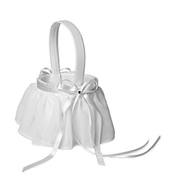 Cathy's Concepts Elegant Chiffon Flower Girl Basket