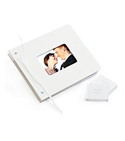 Cathy's Concepts Wedding Wishes White Envelope Guest Book