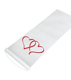 Cathy's Concepts Heart Design Red Aisle Runner