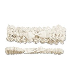 Cathy's Concepts Eleanor Lace Ivory Wedding Garter