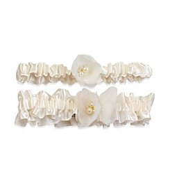 Cathy's Concepts Delicate Flower Ivory Wedding Garter