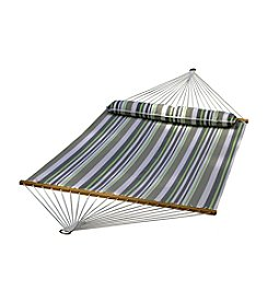 Algoma Hammocks 13-ft. Green and Gray Striped Quick-Dry Hammock