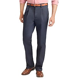 Izod® Men's Wrinkle Free Classic Pleated American Chino Pants