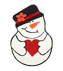 Sunham Home Fashions Snowman Love Rug