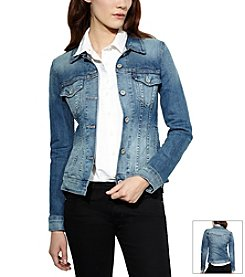 Levi's® Fitted Trucker Jean Jacket - Saddle Blue