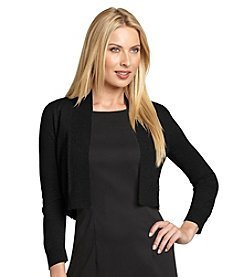Calvin Klein Shawl Collar Open Front Shrug