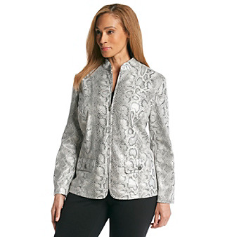 Alfred Dunner® Plus Size Python Print Jacket