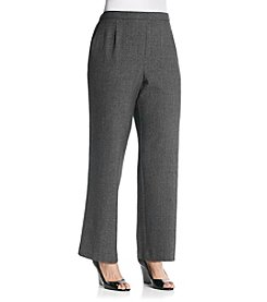 Briggs New York® Plus Size Menswear Small Pattern Pull-On Pant