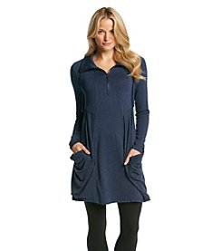 Kensie® Heathered French Terry Slouch Pocket Dress