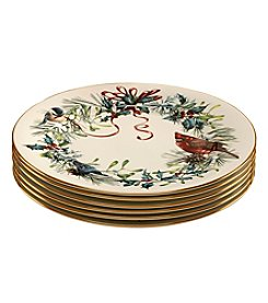Lenox® Winter Greetings® Set of 6 Dinner Plates