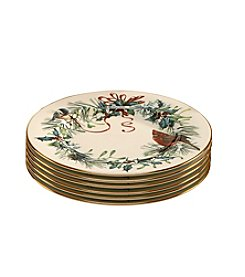 Lenox® Winter Greetings® Set of 6 Salad Plates