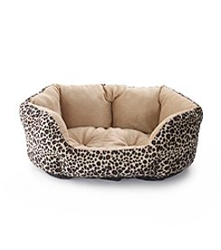 John Bartlett Pet Leopard Small Round Cuddler Pet Bed