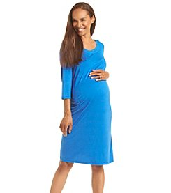 Three Seasons Maternity™ V Neck Solid Dress