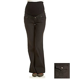 Three Seasons Maternity™ Black Denim Flare Jean