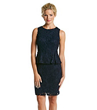 Adrianna Papell® Peplum Lace Cocktail Dress