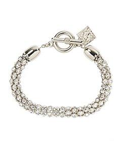 Anne Klein® Silvertone Pave Bracelet
