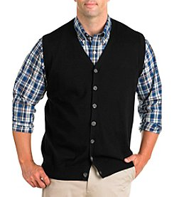 Oak Hill® Men's Big & Tall Button-Front Sweater Vest