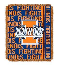 University of Illinois Jacquard Throw