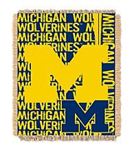 University of Michigan Jacquard Throw