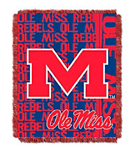 University of Mississippi Jacquard Throw