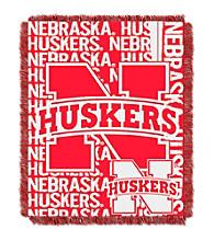 University of Nebraska Jacquard Throw