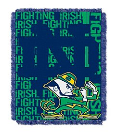 University of Notre Dame Jacquard Throw