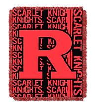Rutgers University Jacquard Throw