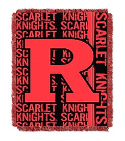 Rutgers University Jacquard Throw
