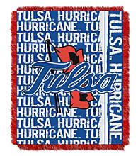 University of Tulsa Jacquard Throw
