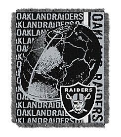Oakland Raiders Jacquard Throw