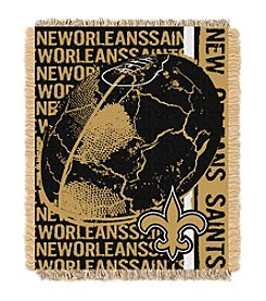 New Orleans Saints Jacquard Throw