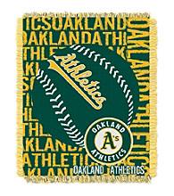 Oakland Athletics Jacquard Throw