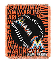 Miami Marlins Jacquard Throw
