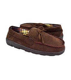MUK LUKS® Men's Brown Moccasins with Flannel Lining