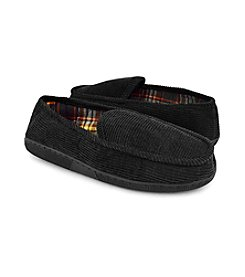 MUK LUKS Men's Corduroy Moccasins with Flannel Lining