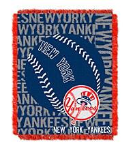 New York Yankees Jacquard Throw