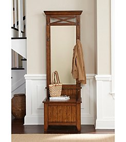 Liberty Furniture Rustic Oak Hall Tree with Mirror