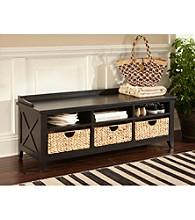 Liberty Furniture Black Cubby Storage Bench
