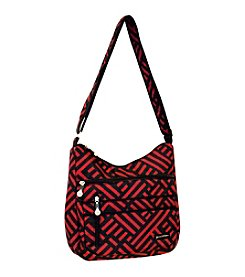Jenni Chan Signature Black and Red Soft Crossbody