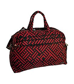 Jenni Chan Signature Black and Red Duffel