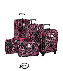 Jenni Chan Damask Pink Luggage Collection