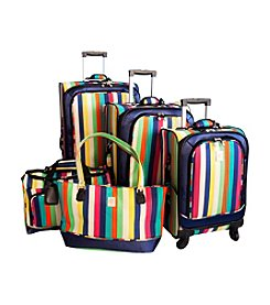 Jenni Chan Multicolor Stripes Luggage Collection
