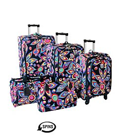 Jenni Chan Wild Flower 360 Quattro Luggage Collection