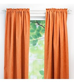 Chooty® Slam Dunk Tangerine Rod Pocket Curtain Panel