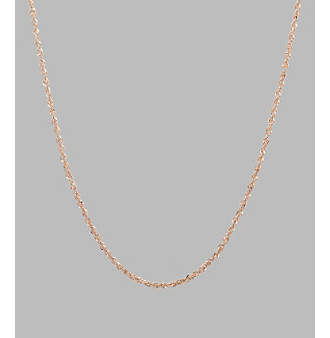 14K Rose Gold Perfectina Chain 18""
