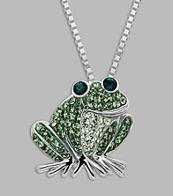 Impressions® Crystal Frog Pendant in Sterling Silver