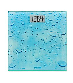 Taylor® Rainy Day Glass Digital Bath Scale